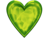 Heart D Jeweled Lime Green Image